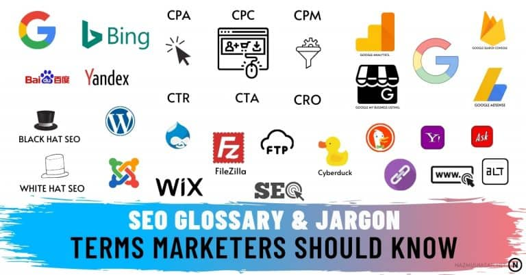 50 Essential SEO Glossary of Terms & Explanation- in 2021