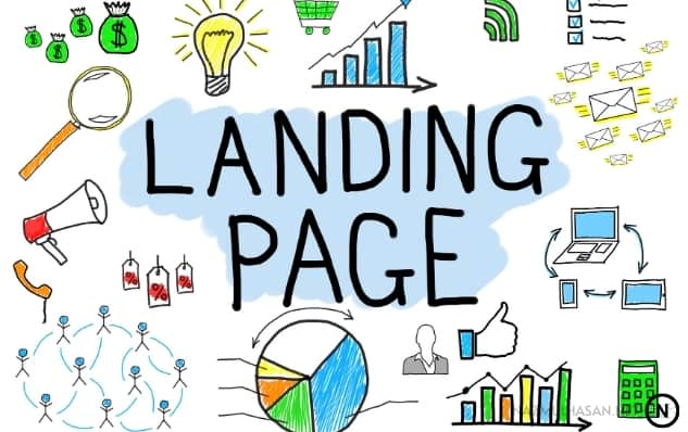 Landing Page_ Where visitors lend by clicking CTR.